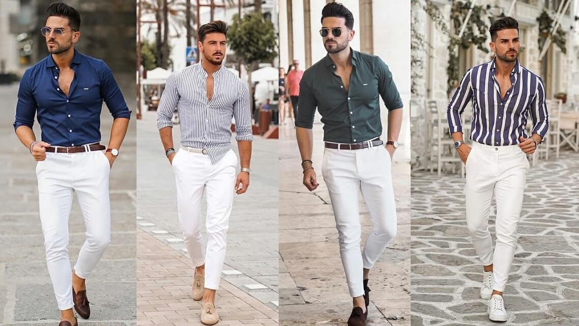 White Pants Outfit Men | Best Ways to Style White Jeans