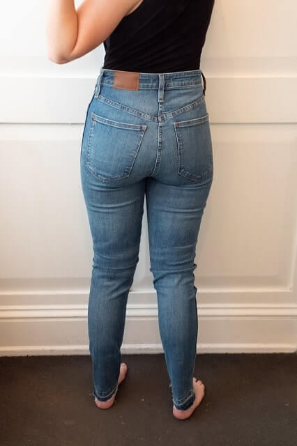 Madewell jeans for flat Back